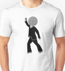 Dancer with disco ball as the head Unisex T-Shirt