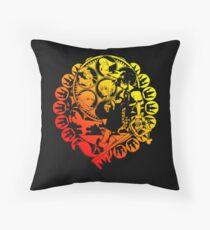 Kingdom Hearts Deep Dive Decal Black Throw Pillow