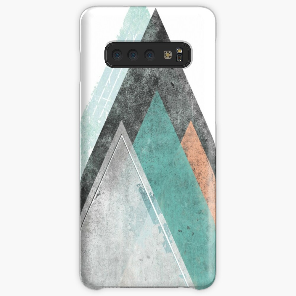 Aqua and Coral Mountains Case & Skin for Samsung Galaxy