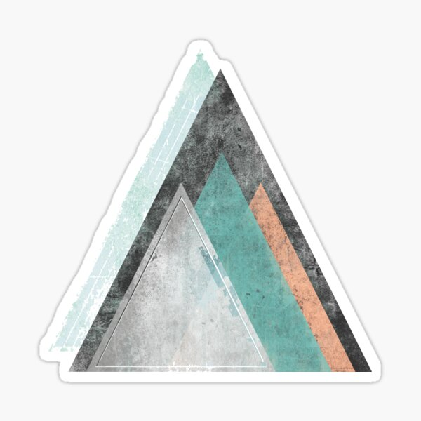 Aqua and Coral Mountains Sticker