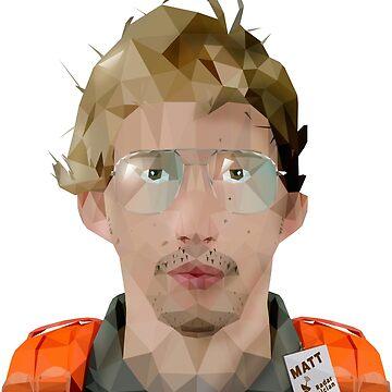 MATT (RADAR TECHNICIAN) LOW POLY by hoodwinkedfool