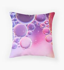 Abstract Colorful Bubbles Macro Throw Pillow