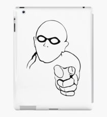 warning superhero iPad Case/Skin