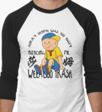 Weeaboo Trash Men's Baseball ¾ T-Shirt
