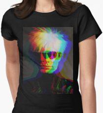 Pop-Art-Porträt Tailliertes T-Shirt für Frauen