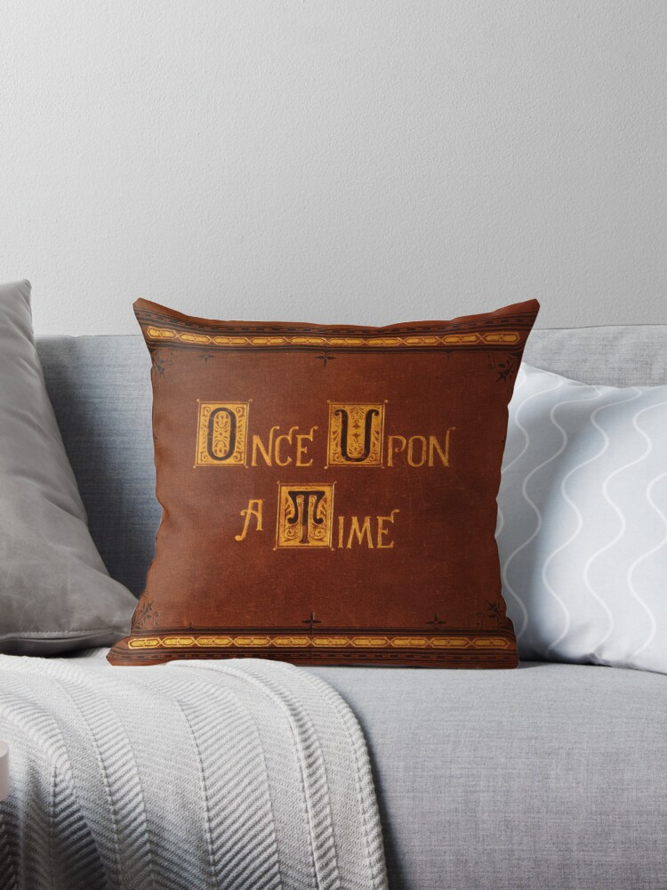 Quot Once Upon A Time Book Sticker Quot Throw Pillows By Equitas