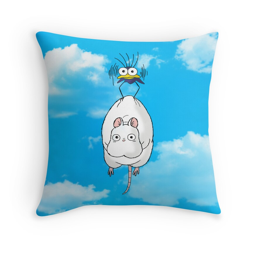 Quot Spirited Away Mouse And Fly Quot Throw Pillows By Keelin