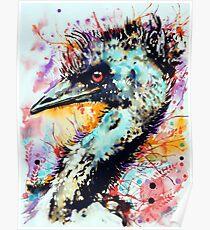expressive emu Poster