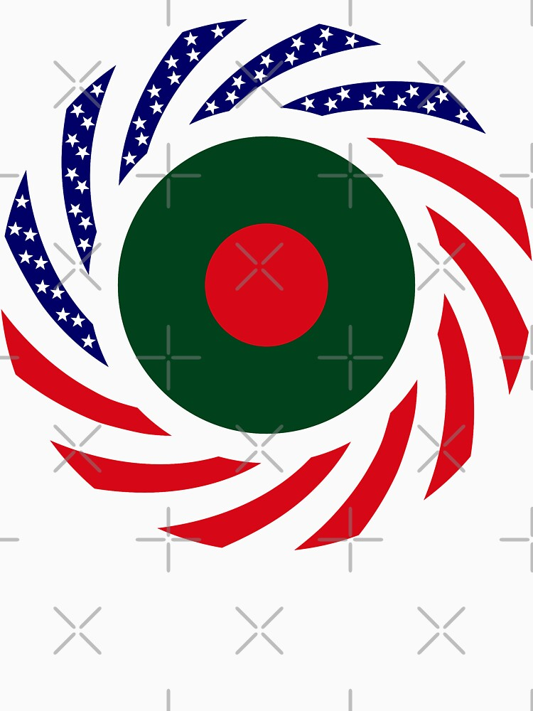 Bangladeshi American Multinational Patriot Flag by carbonfibreme
