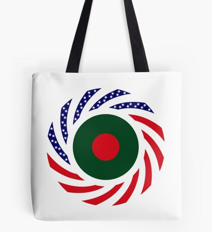 Bangladeshi American Multinational Patriot Flag Tote Bag