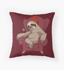 Sophisticated Sloth Throw Pillow