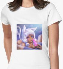 Yukiko - neko girl Women's Fitted T-Shirt
