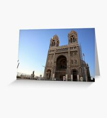 Marseille Cathedral, Roman Catholic cathedral in Marseille, southern France Greeting Card