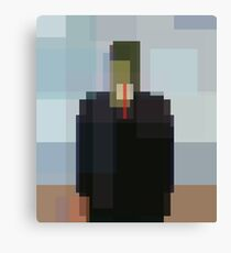 Magritte: Son of Man (computer-generated abstract version) Canvas Print