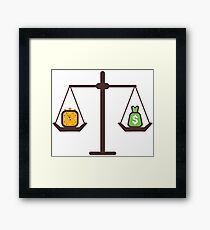 compare time and money Framed Print