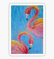 Flaming Flamingo's Sticker