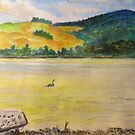 Lake Rotarua, New Zealand from behind the old bathhouse by Gary Shaw