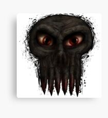 Hungry Undead Skull Canvas Print