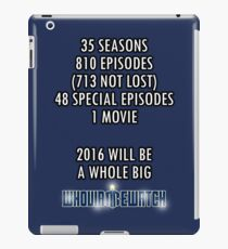 Whovian 2016 iPad Case/Skin