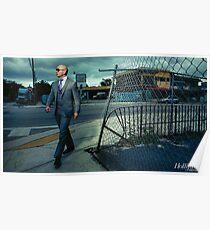 Pitbull Walking Poster
