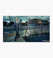 Pitbull Walking Photographic Print