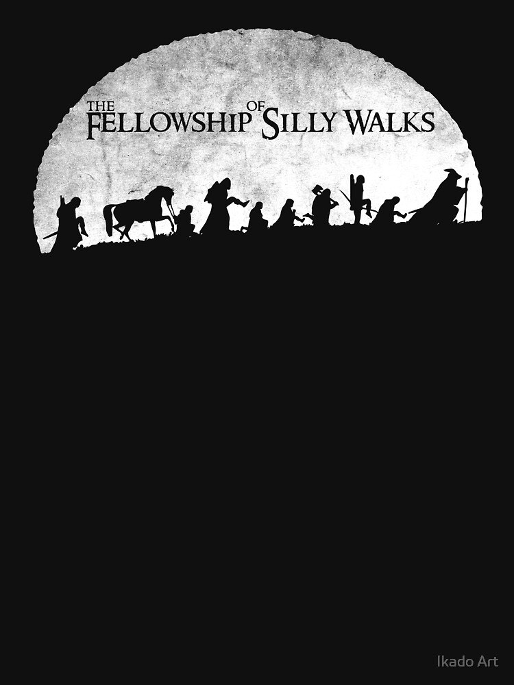 The Fellowship of Silly Walks by ikadoart