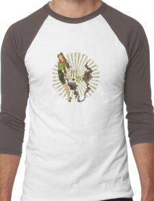 Fly High Dieselpunk Woman Men's Baseball ¾ T-Shirt