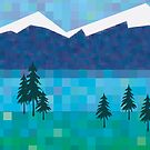 Snow capped peaks and mountain lakes by goanna