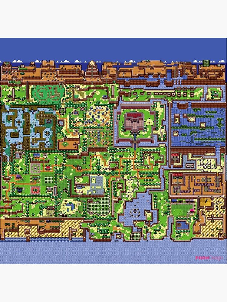 Zelda: mapa mundial del despertar de Link de Pham