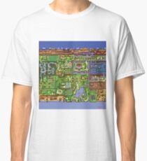 Zelda - Link's awakening world map Classic T-Shirt