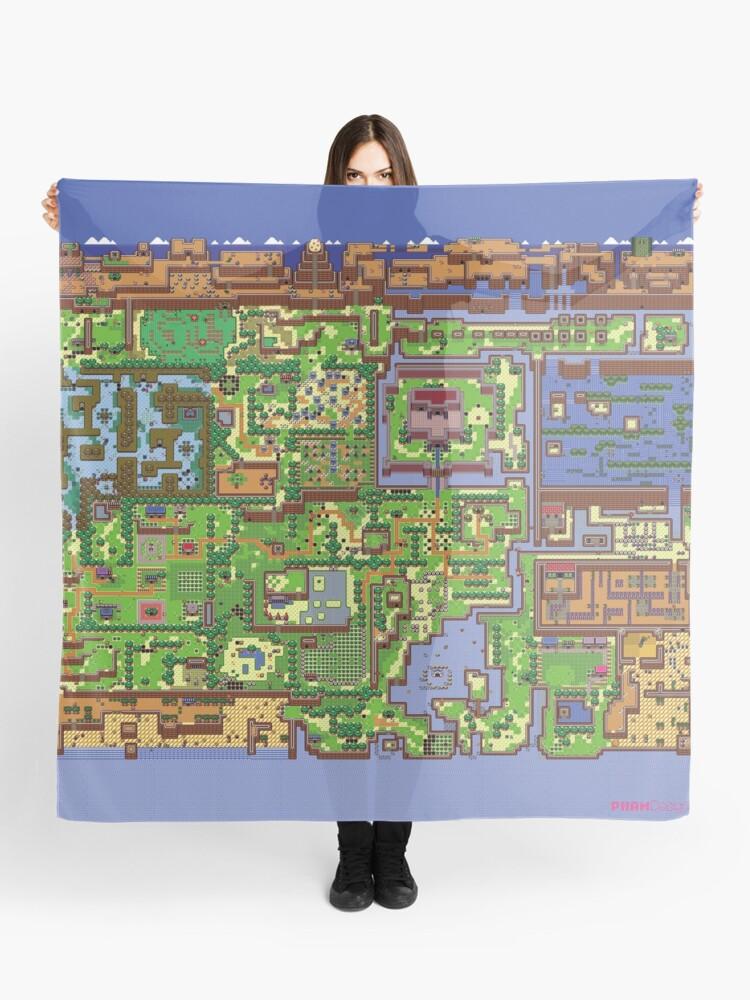 Zelda Link S Awakening World Map Scarf