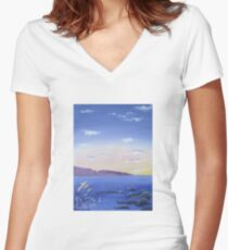 Dreamy Sunset Women's Fitted V-Neck T-Shirt