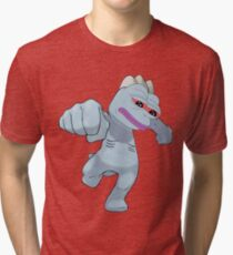 Machop Pepe Tri-blend T-Shirt