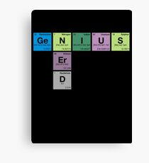 NERD GENIUS!GENUIS NERD - Perodic Table Scrabble Canvas Print