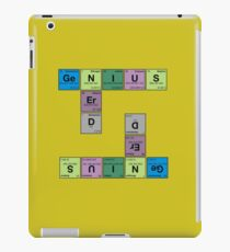 NERD GENIUS!GENUIS NERD - Perodic Table Scrabble iPad Case/Skin