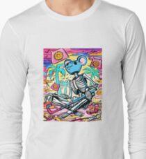 Hotline Miami inspired skeleton in mouse mask  Long Sleeve T-Shirt