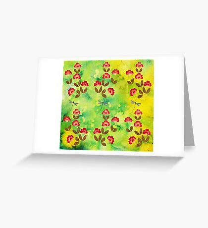 PRESSED FLOWERS Greeting Card