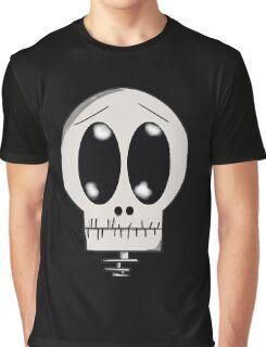 Worried Skeleton Graphic T-Shirt