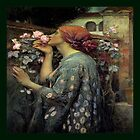 Pre Raphaelite , Throw Pillow  by Irene  Burdell