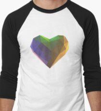 Retro Heart Men's Baseball ¾ T-Shirt