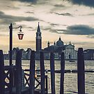 Classic Venice view at sunrise by Cebas