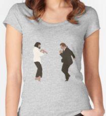 Pulp Fiction Tanz Tailliertes Rundhals-Shirt