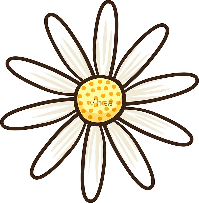 White Daisy Stickers By Mhea Redbubble
