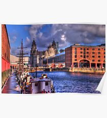 Albert Docks - Liver Building Poster