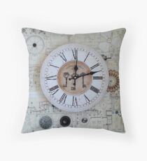 Clockface Throw Pillow