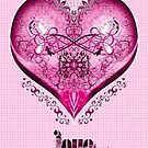 LOVE HEART - Pink (Card + Stickers) by ifourdezign