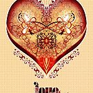 LOVE HEART - Natural (Card + Stickers) by ifourdezign