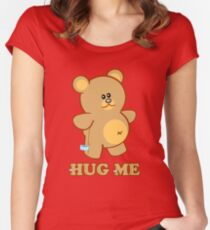 HUG ME! Women's Fitted Scoop T-Shirt