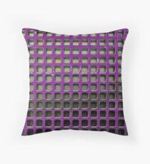 Purple Screen Throw Pillow