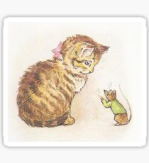Beatrix Potter Cat and Mouse Sticker